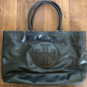 Tory Burch Large Perforated Logo Leather Tote